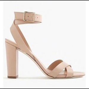 J. Crew cross strap sandals 5.5
